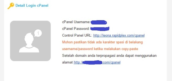 Informasi Account Hosting