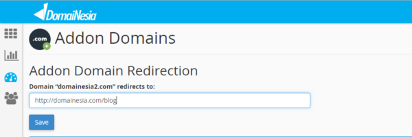 Add-on domain redirection